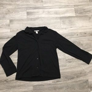 Victoria's Secret pajama long sleeve black sleep